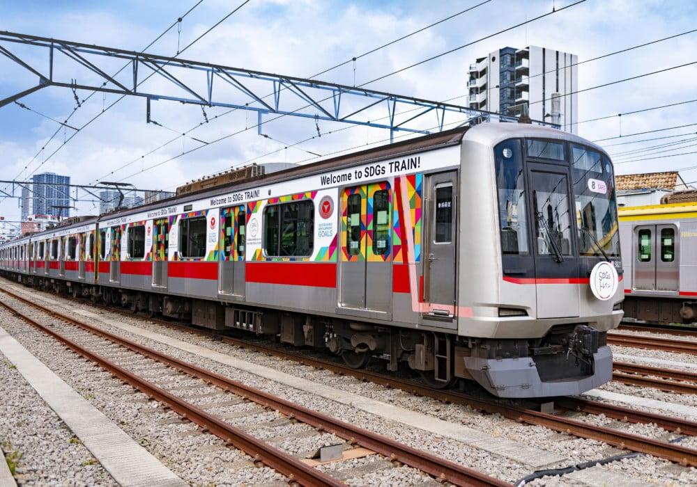 再生可能エネルギー100%で走る!阪急×阪神×東急が協働運行するラッピング列車「SDGsトレイン2020」