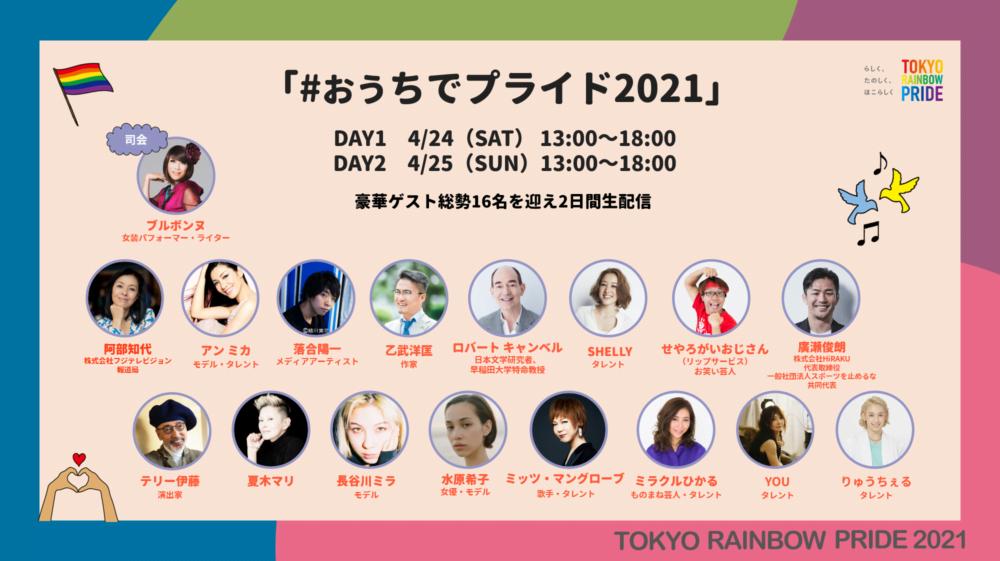 今年のテーマは「声をあげる。世界を変える。」 多様性を祝う祭典「東京レインボープライド2021」が4月24日(土)からスタート!